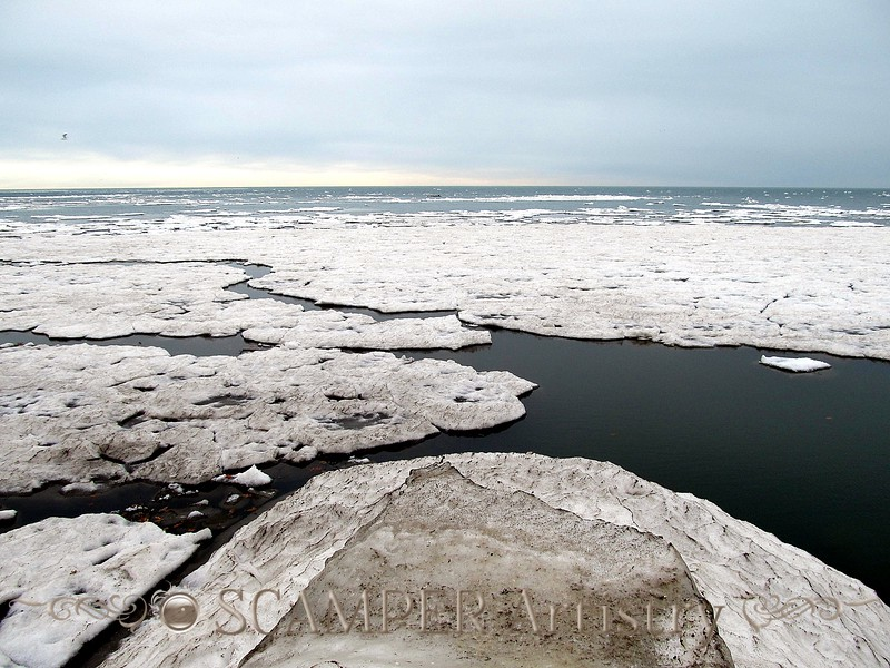 Lake Erie, Jan. 1, 2011, photo taken by Jared  (good composition)