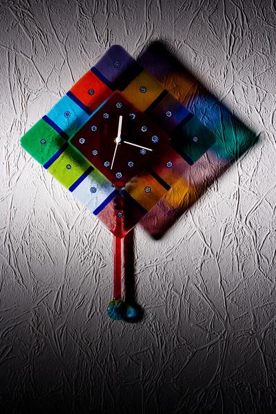 Venetian glass clock.