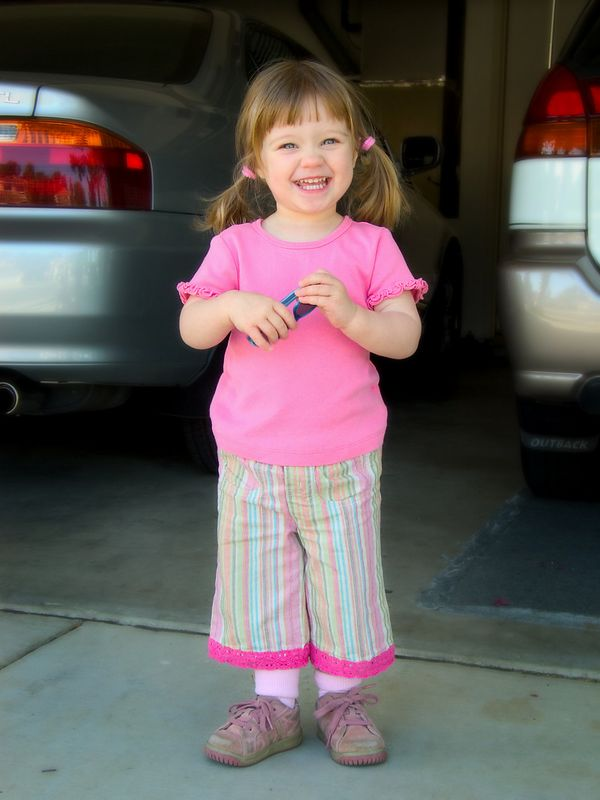 4/26 - As you can tell, pink is her favorite color!