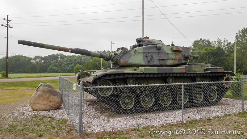 AL Post 29 - Jackson, MI - M60A3 + Japanese Artillery Piece