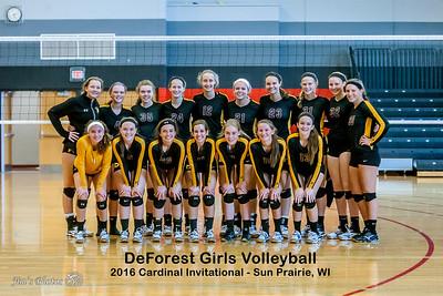 HS Sports - DeForest Volleyball - August 27, 2016