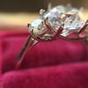 Old European Cut Diamond 3-Stone Trellis Setting, by Steven Kirsch 3