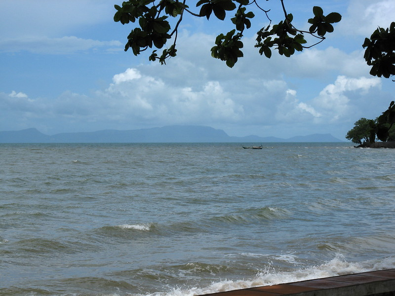 Vietnamese Island of Phou Quoc seen from Kep