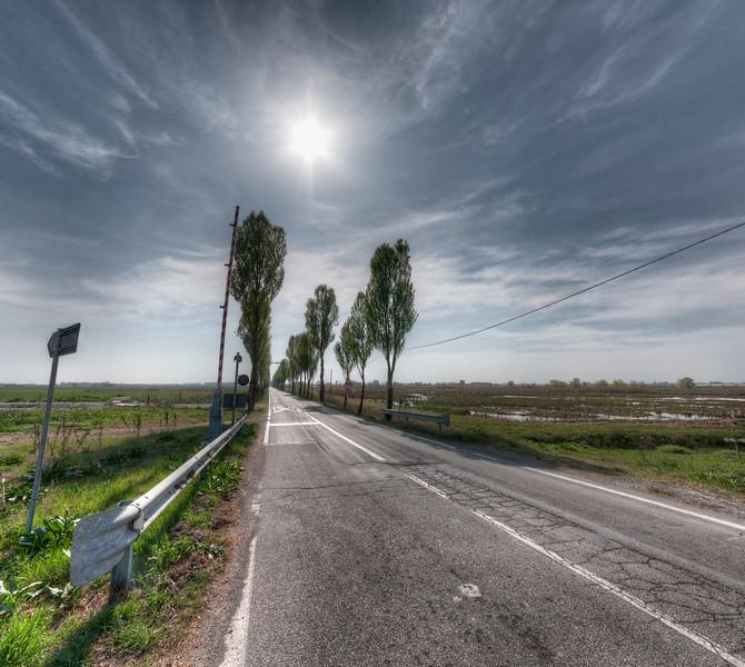 Strada Vittoria - Novellara, Reggio Emilia, Italy - March 31, 2012