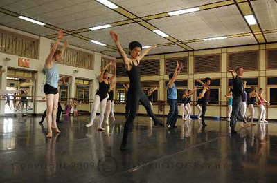 Ballet class at Singapore Dance Theater Studio