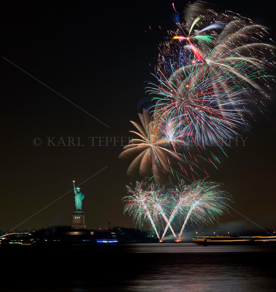 New Year's Eve 2011 and  2010 Fireworks at Statue of Liberty