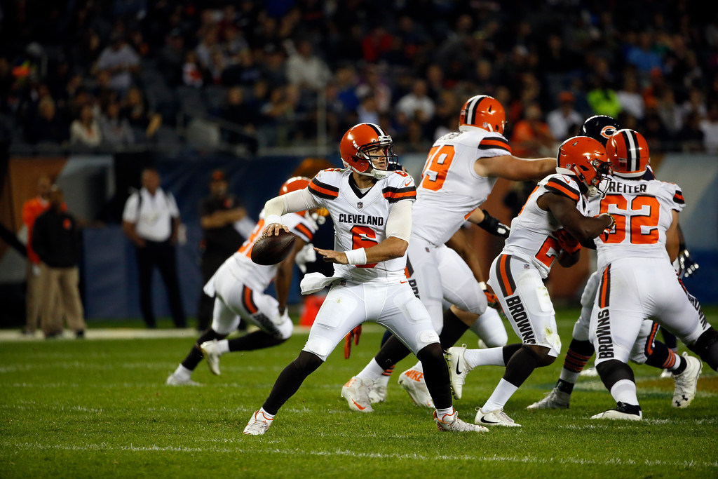 . Cleveland Browns quarterback Cody Kessler (6) during the first half of an NFL preseason football game against the Chicago Bears, Thursday, Aug. 31, 2017, in Chicago. (AP Photo/Nam Y. Huh)