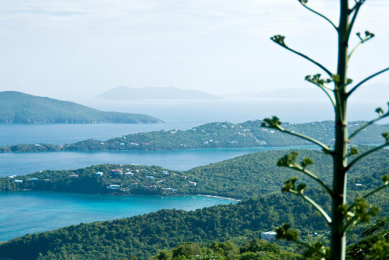 St Thomas and nearby islands in the US Virgin Islands