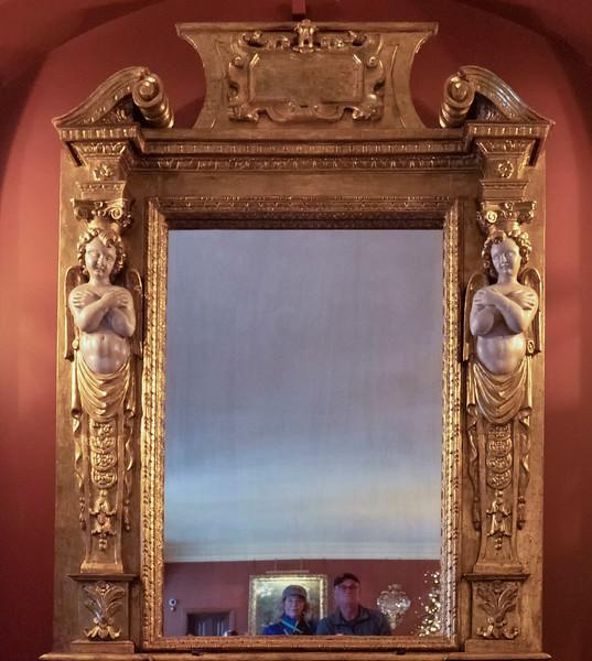 Interior decor relecting admirers