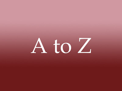 At Home - A to Z