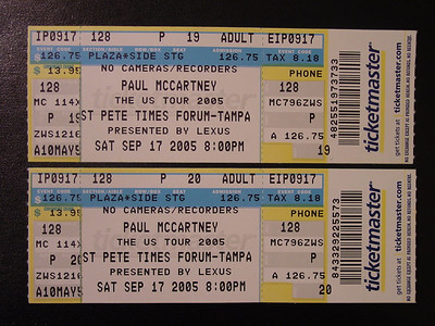 Paul McCartney - Tampa 9-17-05