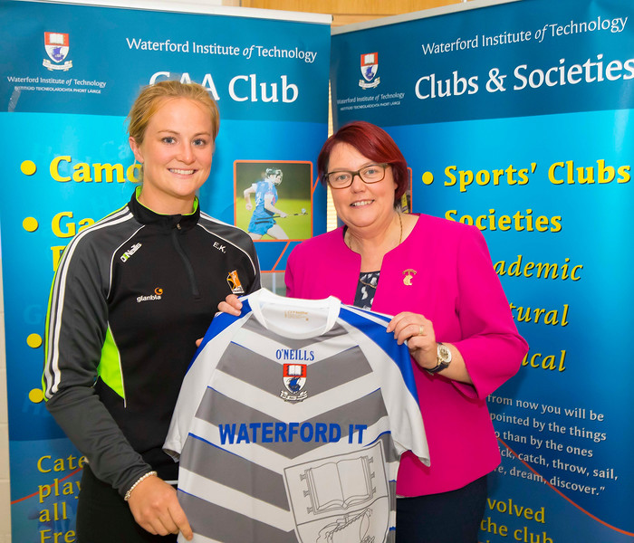 WIT holds event to honour 2016 All Ireland medal winning students. Pictured with the  President of the Camogie Association Catherine Neary is Edwina Keane of the Kilkenny Senior Camogie Team. Picture: Patrick Browne  Waterford Institute of Technology's presence and influence across Gaelic Games at a national level in 2016 has been very noticeable. In total there are 32 past and present WIT students on the respective playing panels that won All Ireland medals in 2016 and a further 4 members on the backroom management teams.   To honour this huge achievement, WIT GAA Club is paying tribute to these 36 past members on securing these prestigious national titles on Monday 3 October, 6.30pm at the WIT Arena.   Along with the players, the prestigious cups, including the All Ireland Senior Hurling Cup- Liam McCarthy, the All Ireland Senior Camogie Cup- O'Duffy, The All Ireland Minor Cup and the All Ireland Under 21 Hurling Cup- James Nowlan, will be on show on the night.