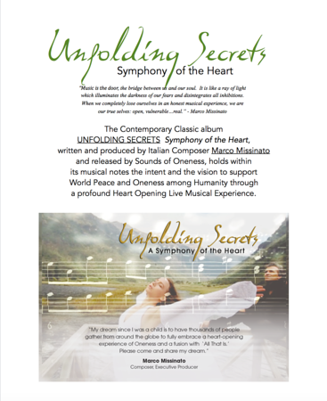 UNFOLDING SECRETS Symphony of the Heart Presentation