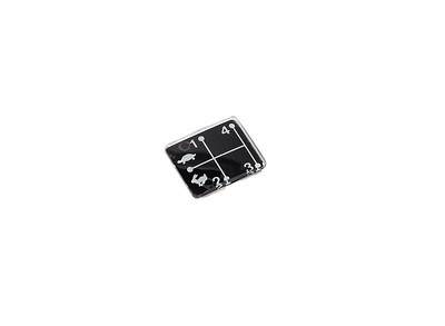 MF 6170 6180 6190 6280 6290 SERIES GEARSTICK LEVER 1 2 3 4  DECAL PLATE