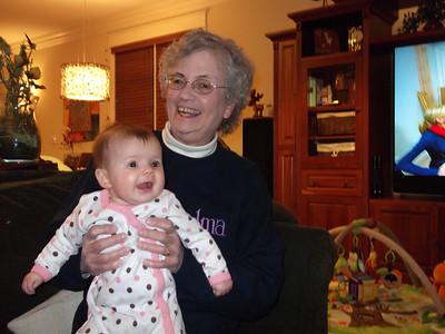 Grandma visits Etta Lin - February 2011