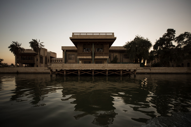 The former Saddam Hussein Presidential Palaces Compound on the Shatt al-Arab in Basra, Southern Iraq.