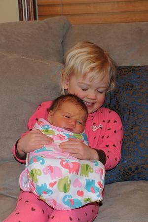 Welcome Sydney Lynn, our third grandchild born Feb. 15, 2013