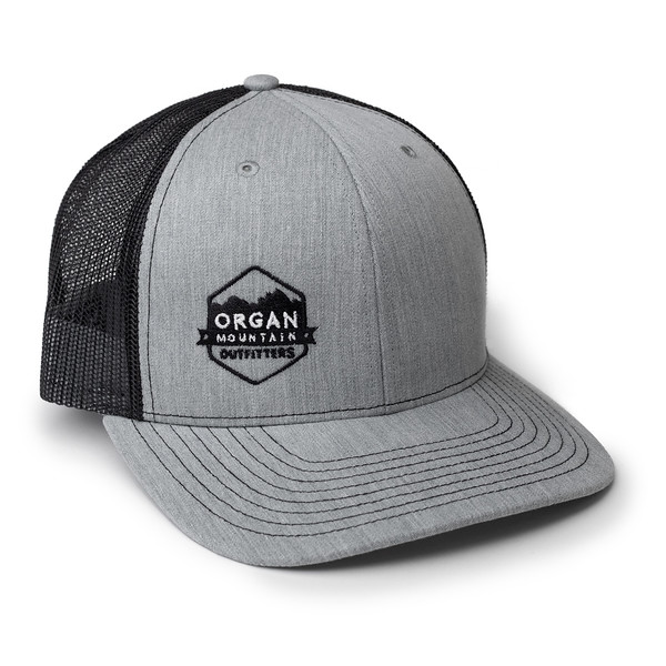 Organ Mountain Outfitters - Outdoor Apparel - Hat - Twill Mesh Trucker Cap - Heather Grey Black.jpg