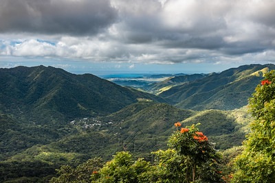 View of Puerto Rican valley from above