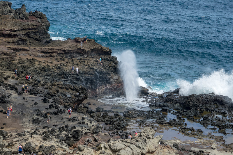 Blowhole several miles away from hotel- always has lots of sightseers present