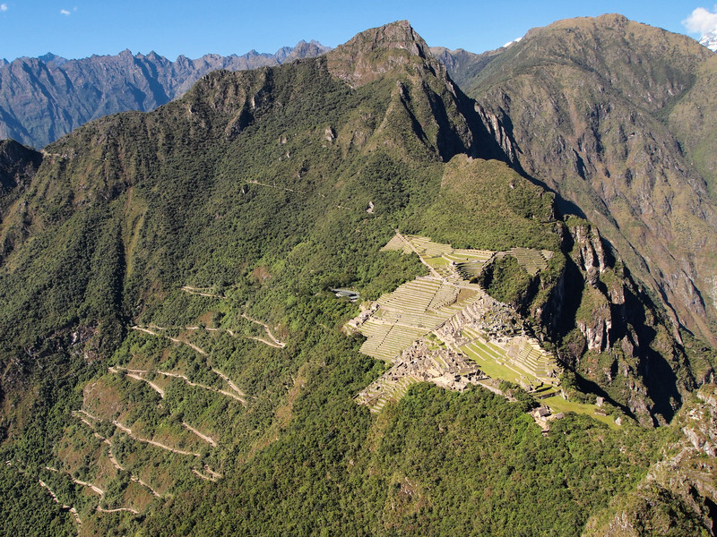 Machu Picchu viewed from the top of Huayna Picchu