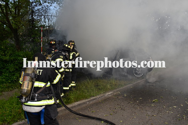 SYOSSET FD CAR VS TREE & FIRE