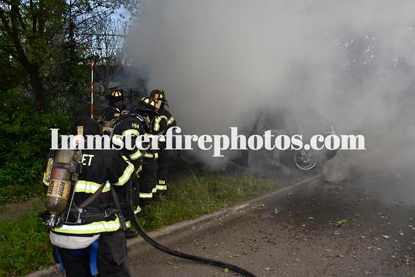 SYOSSET CAR VS TREE & FIRE 5-18