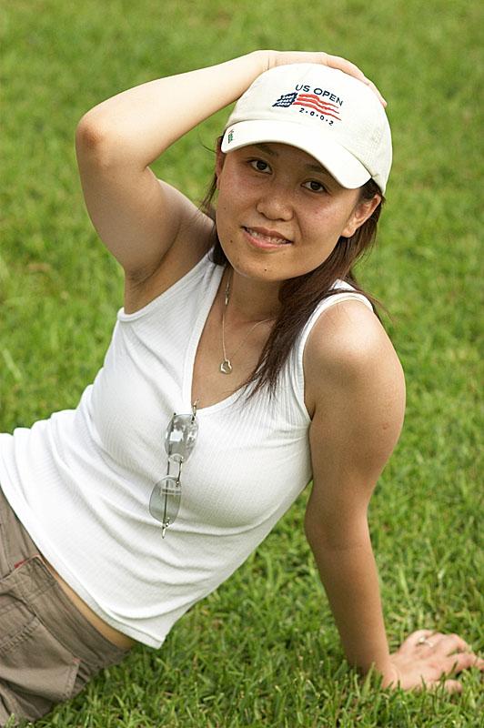 Yan at the Golf Garden