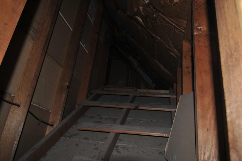 peeking up into the attic