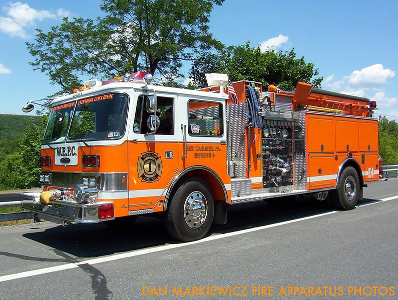 WEST END FIRE CO. ENGINE 4 1984 PIERCE PUMPER