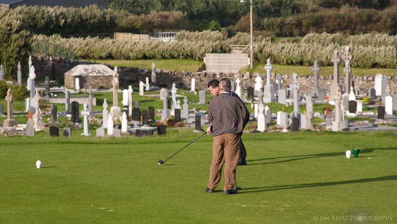 You know it's going to be a tough round when there's a graveyard immediately to the right of the first tee!  (Ballybunion Old)