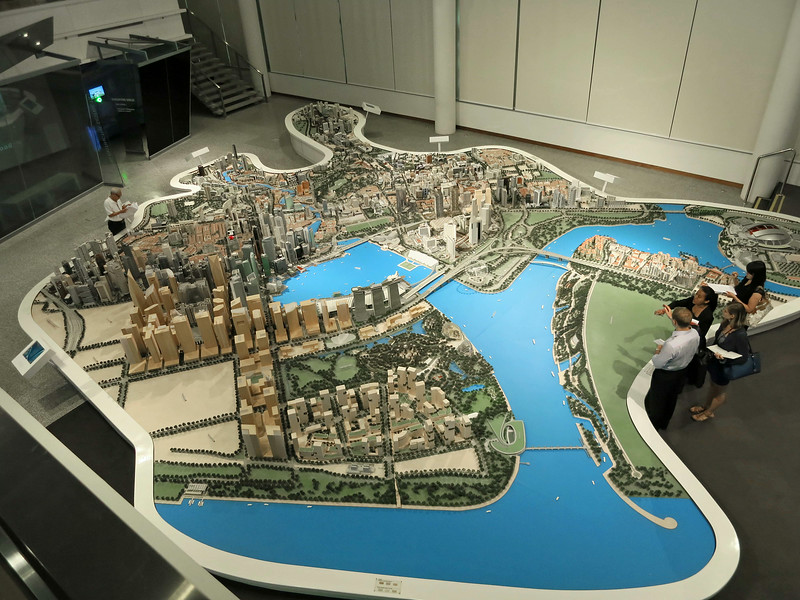 Model of the Singapore city plan, central area