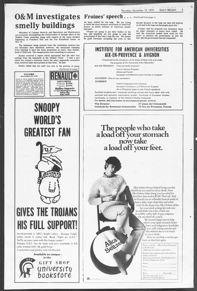 Daily Trojan, Vol. 62, No. 41, November 19, 1970