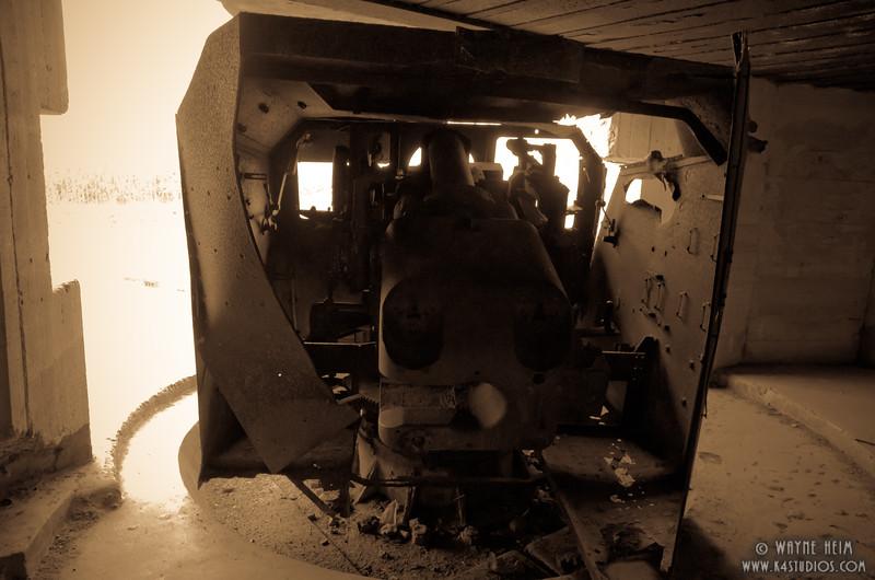 Gun in Normandy    Photography by Wayne Heim