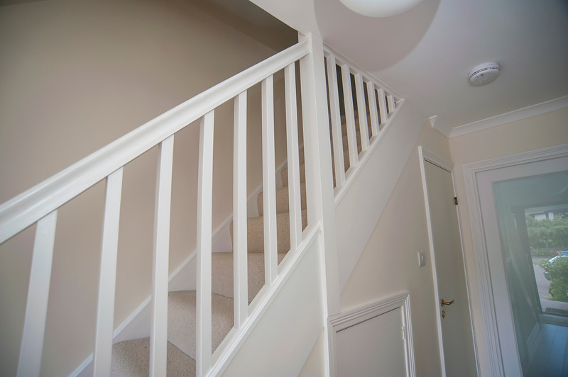 New stair with paint finish.