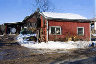 Paintings Of A Dilapidated Farm