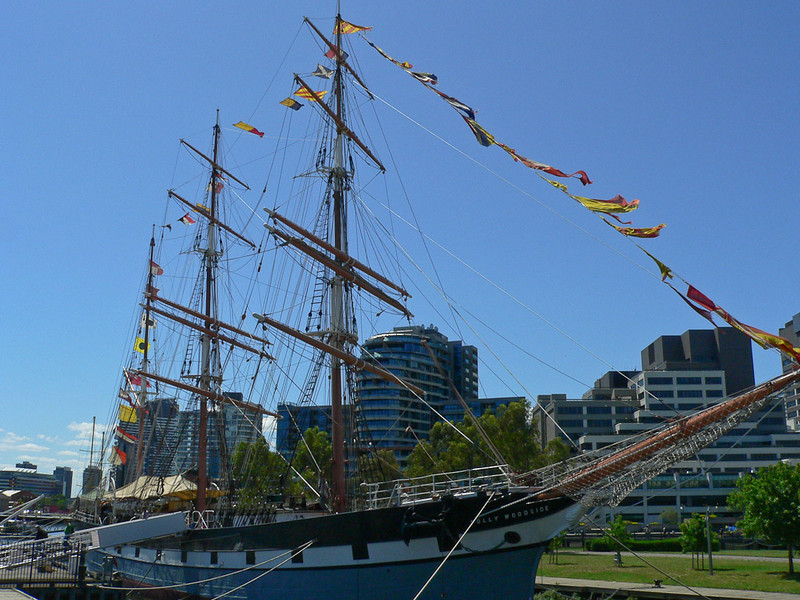 Melbourne's Meritime Museum boats the beautiful Polly Woodside