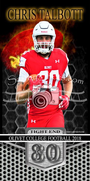 Olivet Football Senior Banners 2018