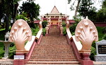 Stairs with Nagas on either side at Wat Phnom