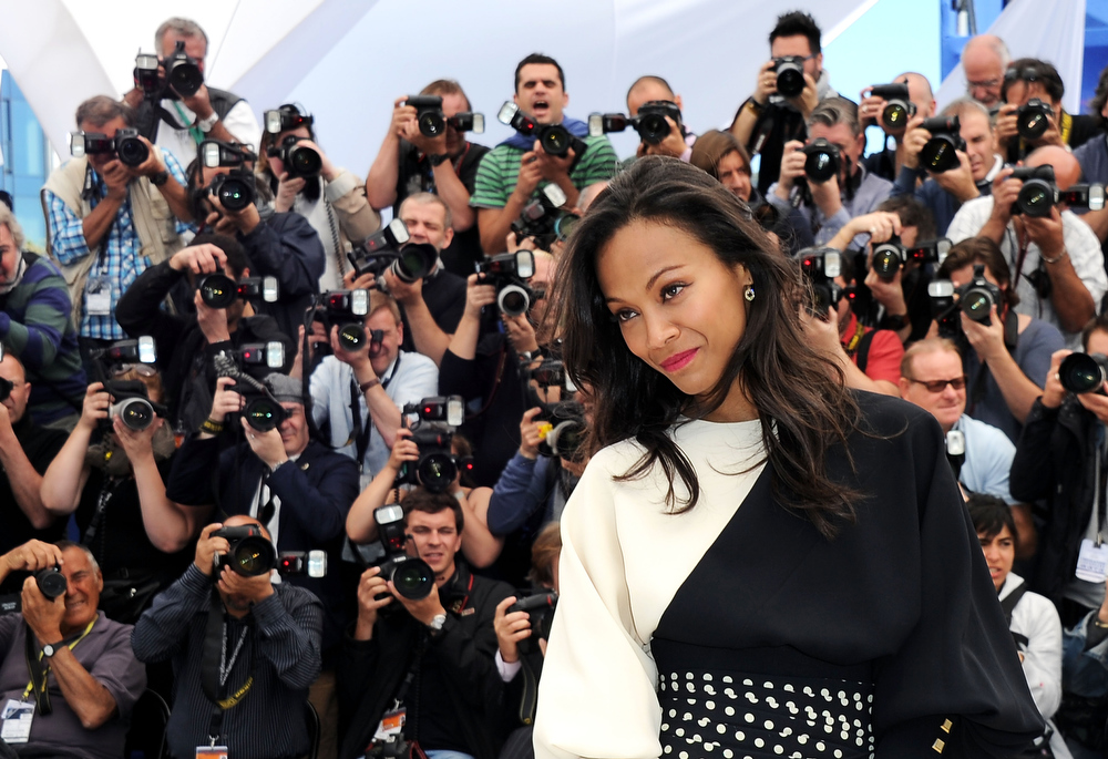 . Actress Zoe Saldana attends the photocall for \'Blood Ties\' at The 66th Annual Cannes Film Festival on May 20, 2013 in Cannes, France.  (Photo by Pascal Le Segretain/Getty Images)