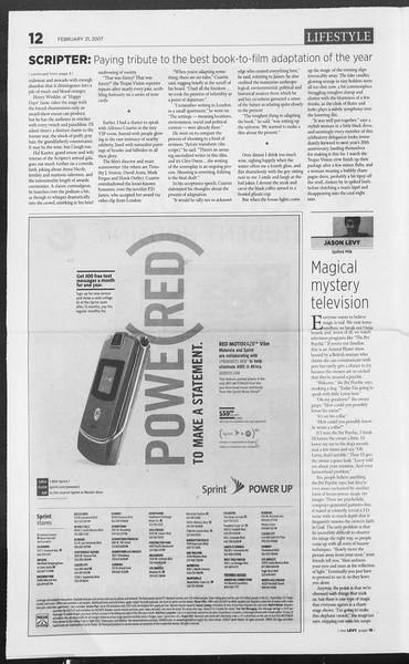 Daily Trojan, Vol. 160, No. 28, February 21, 2007