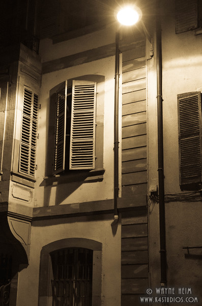 Shutters at Night   Photography by Wayne Heim