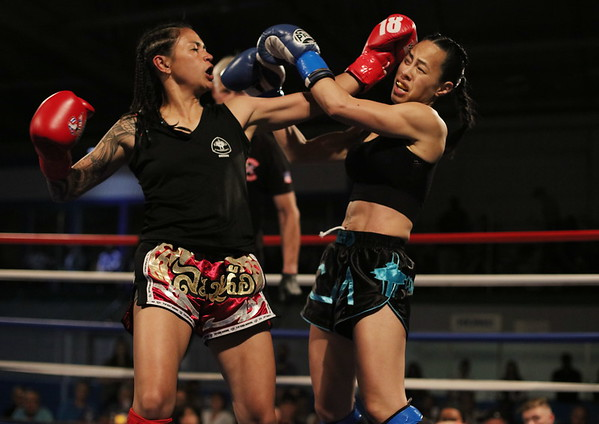 Lori Alston (red) vs. Cathy Vo Buu (blue)