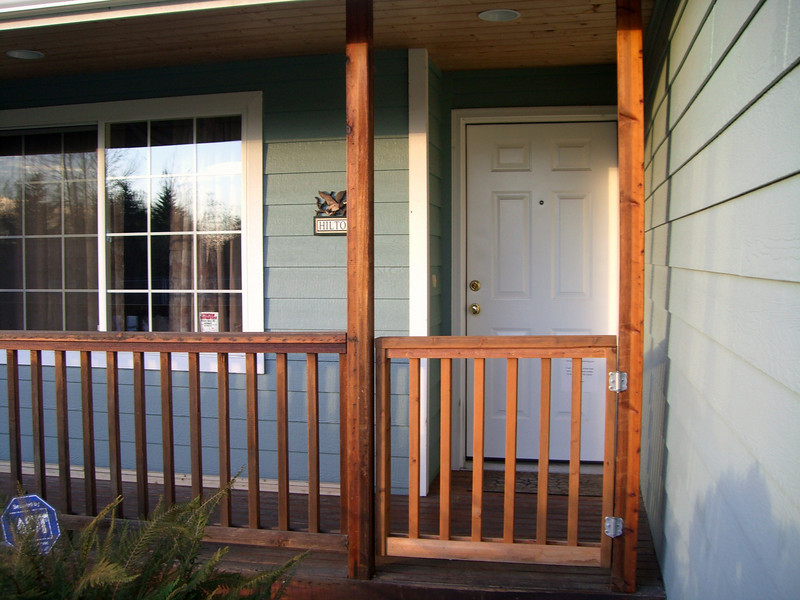 New gate on the front porch.