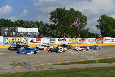 Super Late Model Odd & Even 15 Lap Qualifying Races