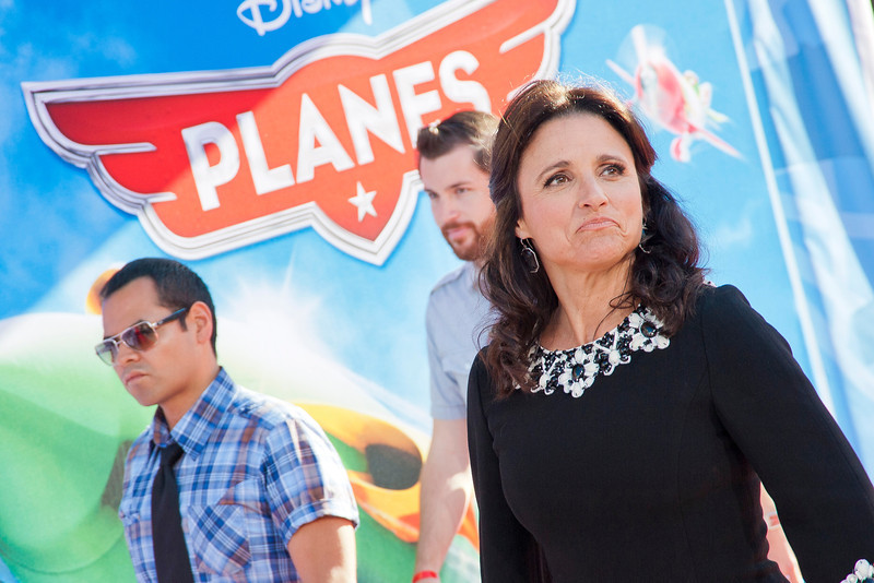 HOLLYWOOD, CA - AUGUST 05: Actress Julia Louis-Dreyfus arrives at the Los Angeles premiere of 'Planes' at the El Capitan Theatre on Monday August 5, 2013 in Hollywood, California. (Photo by Tom Sorensen/Moovieboy Pictures)