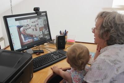 Keren and grandma speaking to great grandma