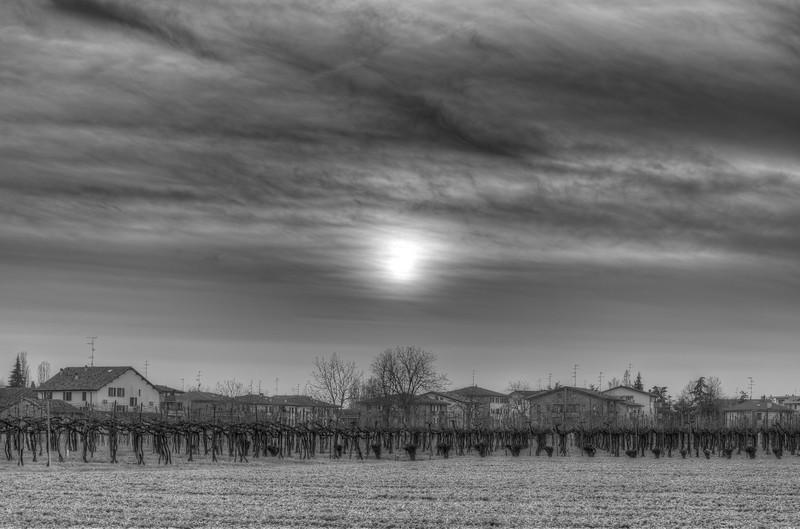 Suburban Sunset - Sesso, Reggio Emilia, Italy - March 29, 2015