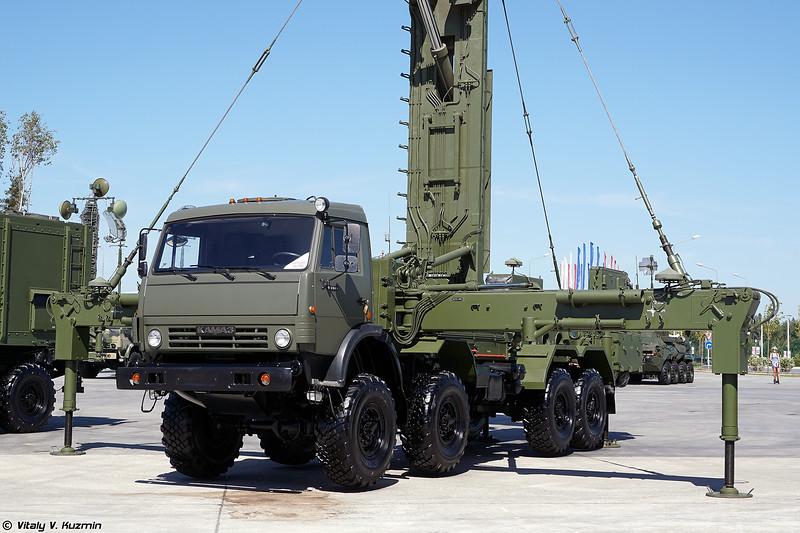 Мобильная трехкоординатная РЛС 48Я6-К1 Подлет-К1 с модулями управления (48Ya6-K1 Podlet-K1 radar with command vehicles)