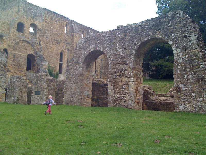 Striding to the Abbey